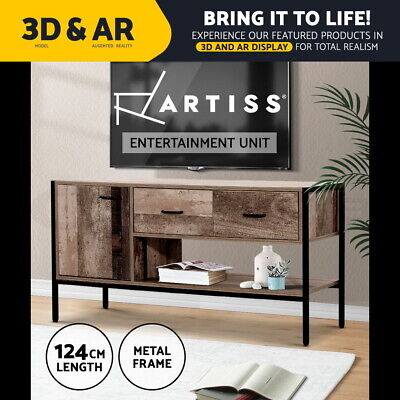 AU149.95 • Buy Artiss TV Cabinet Entertainment Unit Stand Storage Wooden Industrial Rustic