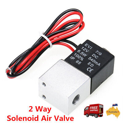 AU16.23 • Buy 2-Way Solenoid Valve 1/4  Water Air Fuel Gas Normally Closed Pneumatic DC 12V AU