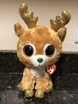 addf8cb5002 New 2018 Glitzy The Beautiful Christmas Reindeer Medium Beanie Boo 9 In •  10.89