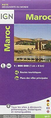 $18.32 • Buy Morocco 1/800  :IGN.M.P.85108 By Institut Geographique National Book The Fast