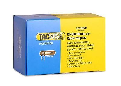 £10.95 • Buy Tacwise CT-60 10mm (3/8 ) Cable Staples For Staple Tacker Gun Box Of 5000 (0354)