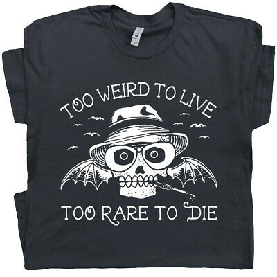 $16.99 • Buy Hunter S Thompson T Shirt Too Weird To Live Fear And Loathing In Las Vegas Tee