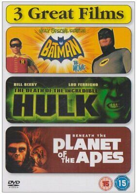 Batman / Death Of The Incredible Hulk / Beneath The Planet Of The... - DVD  DGVG • 3.49£