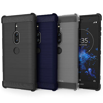 AU5.40 • Buy Sony Xperia XZ2 Premium Carbon Fibre TPU Silicone Gel Case Protection Cover UK