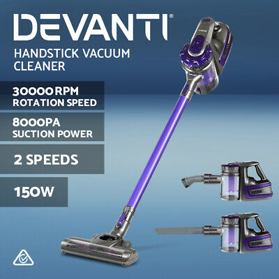AU99.90 • Buy Devanti Handheld Vacuum Cleaner Cordless Stick Bagless 2-Speed Purple 150W
