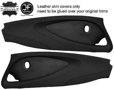 $ CDN311.16 • Buy Black Stitch 2x Full Door Card Nappa & Suede Covers For Lotus Elise S2 Style 2