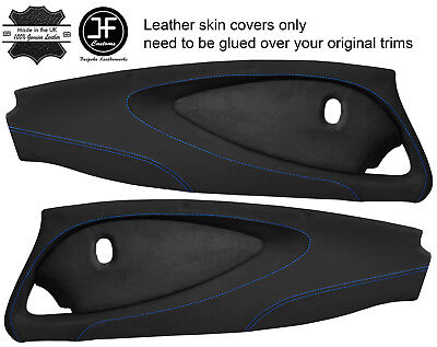 $ CDN349.31 • Buy Blue Stitch 2x Full Door Card Nappa & Suede Covers For Lotus Elise S2 Style 2