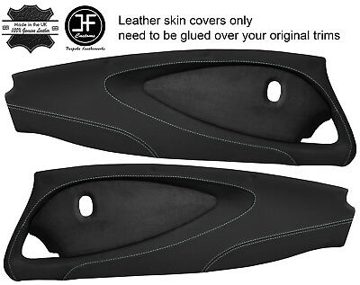 $ CDN298.89 • Buy Grey Stitch 2x Full Door Card Nappa & Suede Covers For Lotus Elise S2 Style 2