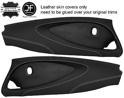 $ CDN349.31 • Buy White Stitch 2x Full Door Card Nappa & Suede Covers For Lotus Elise S2 Style 2