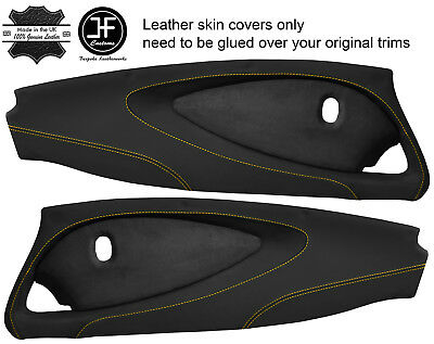 $ CDN454.40 • Buy Yellow Stitch 2x Full Door Card Nappa & Suede Covers For Lotus Elise S2 Style 2