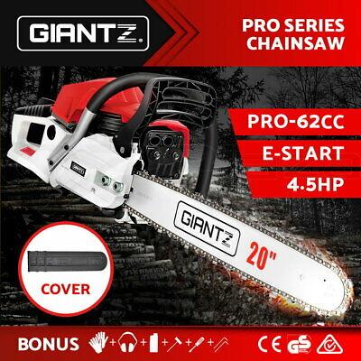 AU139.95 • Buy Giantz Petrol Commercial Chainsaw E-Start 20 Bar Pruning Chain Saw Top Handle