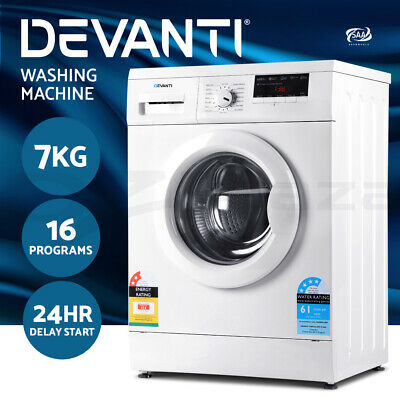 AU519 • Buy Devanti 7kg Front Load Washing Machine Quick Wash 24h Delay Start Automatic
