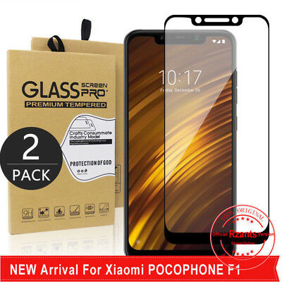 AU3.26 • Buy 2Pcs For Xiaomi Pocophone F1 Tempered Glass Screen Protector Film Full Cover SD
