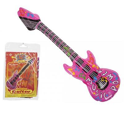 Inflatable Pink Hippy Guitar Musical Instrument Kids Party Blow Up Novelty Toy • 1.99£