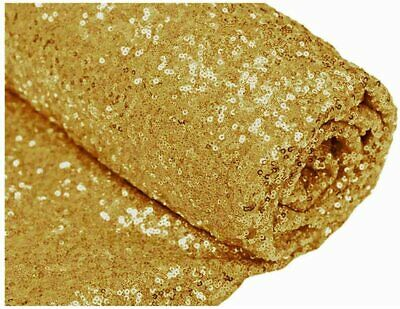 $8.98 • Buy Glitz Sequin Fabric / 3mm Sequin On Poly Mesh 51/52  Wide Sold BTY - Gold