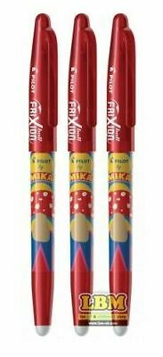 £6 • Buy 3 X Pilot FriXion BALL 07 MIKA Design Erasable Rollerball Pens RED Ink