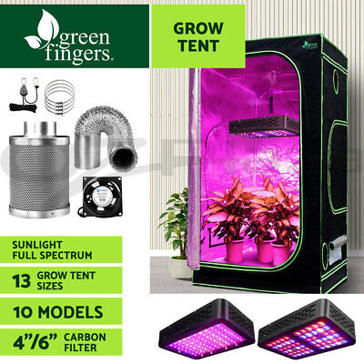 AU411.80 • Buy Greenfingers Grow Tent Kits LED Grow Light Hydroponics System Carbon Filter
