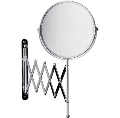 £13.99 • Buy WALL MOUNTED EXTENDING MIRROR CHROME 3 X Magnification BATHROOM SHAVING MAKEUP