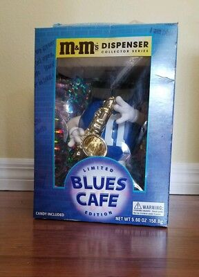 $22.99 • Buy M & M's 'LIMITED EDITION'  Blues Saxophone Cafe Candy Dispenser RARE! With CANDY