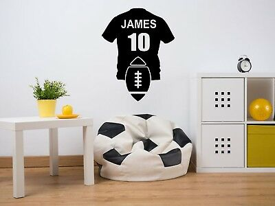 £10.95 • Buy PERSONALISED Rugby Shirt Wall Art Sticker, Vinyl Decal, Sport, Adhesive