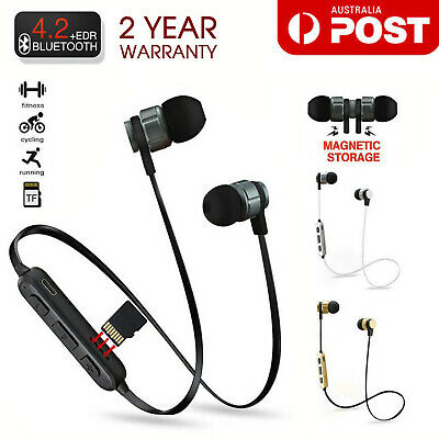 AU7.49 • Buy Sweatproof Wireless Bluetooth Earphones Headphones Sport Gym For IPhone Samsung
