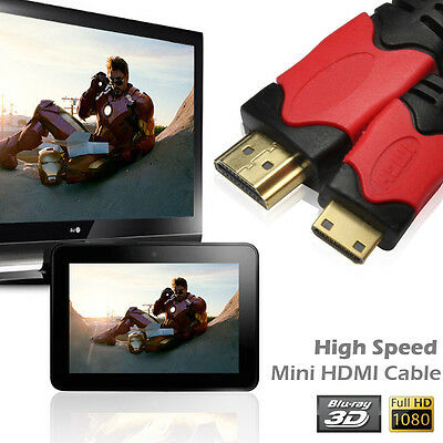 $ CDN10.35 • Buy HDMI Cable 4K 3D For Tablet Camcorder MP4 Mini HDMI Cable 3ft 6ft 10ft 15ft US