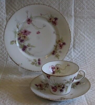Pretty Vintage Rosenthal Secession Plate Cup & Saucer Trio • 20£