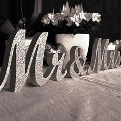 £11.39 • Buy Wooden Standing Top Mr And Mrs Letters Table Sign Table Wedding Decoration Hot