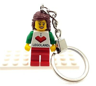 Girl Keychain With 'I LOVE LEGOLAND' Torso Made From All Genuine LEGO Parts NEW • 6.45£