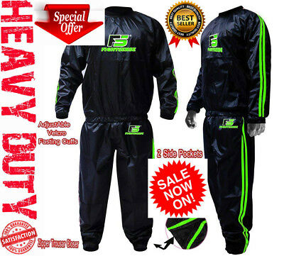 AU32.62 • Buy Sauna Sweat TRACK Suit For WEIGHT LOSS Men Women MMA BOXING Body SHAPER Workout