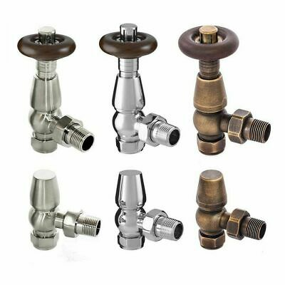 PAIR CHELSEA TRADITIONAL TRV Thermostatic Antique Radiator Valves Set • 3 Styles • 36.95£