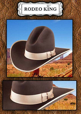Rodeo King Jackson Cowboy Hat-chocolate Brown -3x- Size 7 1 8 5563eb4fb708