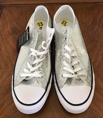 Converse All Star Chuck Taylor Sneakers Silver Glitter Sparkle Womens 13  Shoes • 59.99  8515bc9a3