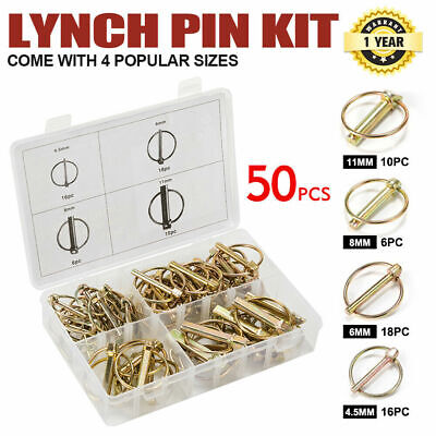 AU26.95 • Buy Lynch Linch Locking Pin Kit 50pc Trailer Farm Auto Parts Machinery