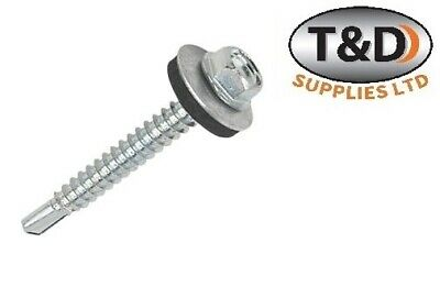 £8 • Buy Tek Self Drilling Screws With Sealing Washers For Metal Roofing