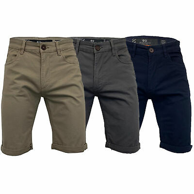 £20.98 • Buy Mens Chino Shorts Crosshatch Knee Length Roll Up COTTRELL Casual Summer Fashion