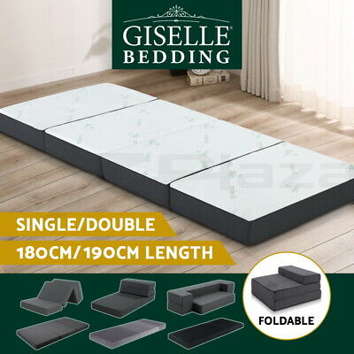AU129.95 • Buy Giselle Bedding Foldable Foam Mattress Portable Folding Camping Bed Mat Double