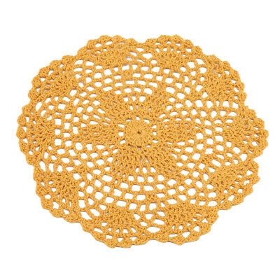 Round Handmade Lace Crocheted Placemat Table Mat Cotton Doily Table Pads Z • 1.96£