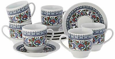 £21.95 • Buy Turkish Coffee Cups And Saucers (6 Sets) 12 Pieces Ottoman Greek Espresso New UK