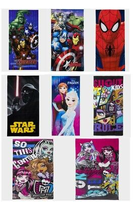 £9.99 • Buy Kids Beach Towel Fast Dry Cotton Official Star Wars Marvel Frozen Monster High