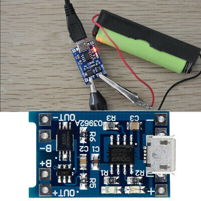 Micro USB 5V 1A Lithium Battery 18650 Charging Module Charger Board For Arduino • 5.29£