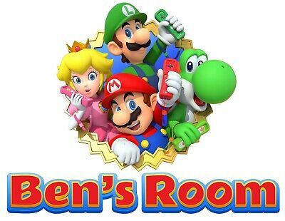 £9.99 • Buy Personalised Any Name Super Mario Wall Decal 3D Art Sticker Vinyl Room Bedroom 9