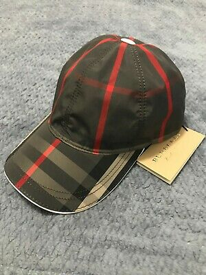 Burberry Signature Dark Grey Check Baseball Cap Plaid Hat  289 • 135.00  b0fab040cbf