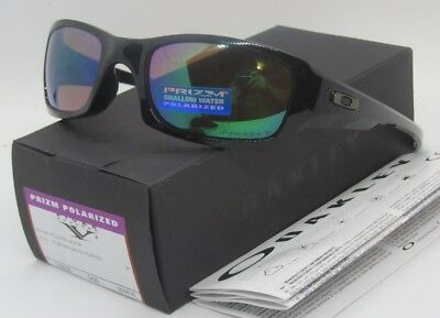 bbadad890b OAKLEY Polished Black PRIZM Shallow Water POLARIZED FIVES SQUARED Sunglasses  NEW • 84.99