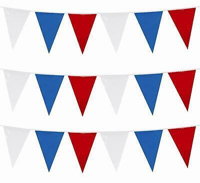 £2.59 • Buy Red White Blue 33 Feet, 20 Flags Pennant Banner Party Bunting Garden Decorations