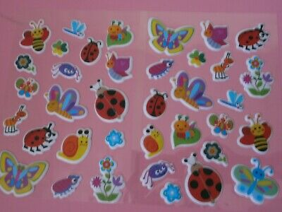 Puffy Insect Sticker Sheets X 2**Ladybird*butterfly*Kids Stickers* • 2.35£