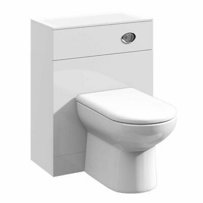 500/200 WC Vanity Unit Bathroom Compact Back To Wall Furniture White High Gloss • 99.98£