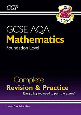 £6.99 • Buy New 2021 GCSE Maths AQA Complete Revision & Practice: Foundation... By CGP Books