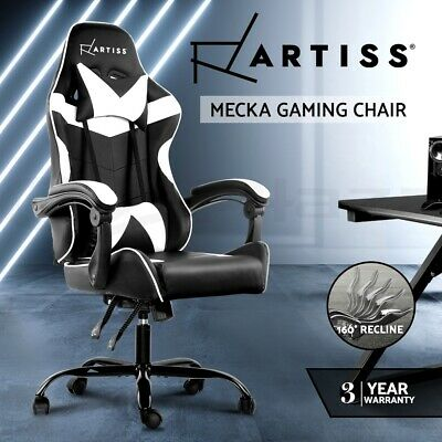 AU155 • Buy Artiss Gaming Office Chair Computer Chairs Leather Seating Racing Recliner Racer