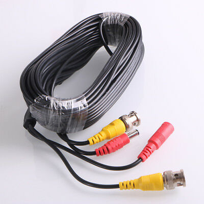 $ CDN8.39 • Buy Security Camera Cable Video Surveillance + Power Cord CCTV BNC Siamese Wire -LOT